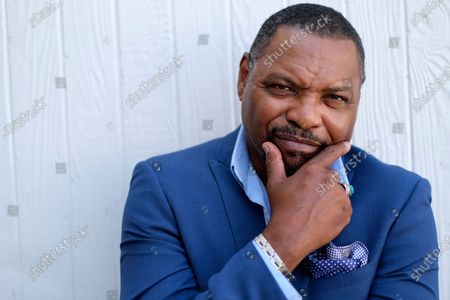 """Stock Image of Petri Hawkins-Byrd, bailiff on the reality court television program """"Judge Judy,"""" poses for portrait, in Los Angeles"""