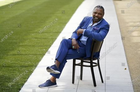 """Stock Photo of Petri Hawkins-Byrd, bailiff on the reality court television program """"Judge Judy,"""" poses for portrait, in Los Angeles"""