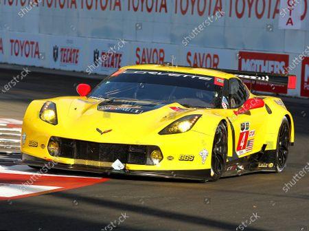 17-18 Apri4, Chevrolet, Corvette C7.R, GTLM, Oliver Gavin, Tommy Milnerl, 2015, Long Beach, California USA ?2015, Perry Nelson LAT Photo USA
