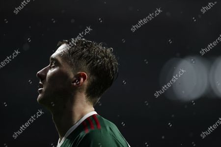 Lokomotiv's Anton Miranchuk during the Champions League group A soccer match between Atletico Madrid and Lokomotiv Moscow at the Wanda Metropolitano stadium in Madrid, Spain