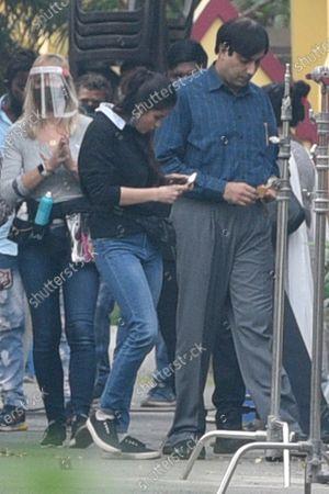 Bollywood actor Abhishek Bachchan spotted while shooting for the Hindi film 'Bob Biswas', directed by Diya Annapurna Ghosh, at Panchasayar   on November 25, 2020 in Kolkata, India.
