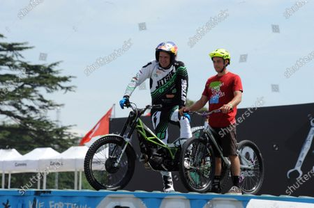 Stock Image of 2015 Goodwood Festival of Speed 25th - 28th June 2015 Atmosphere GAS Bikes Dougie Lampkin World Copyright : Jeff Bloxham/LAT Photographic Ref : Digital Image