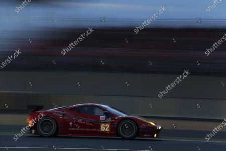 2015 Le Mans 24 Hours. Circuit de la Sarthe, Le Mans, France. Saturday 13 June 2015. Scuderia Corsa (Ferrari 458 Italia - GTE Am), William Sweedler, Townsend Bell, Jeffrey Segal.  Photo:  Sam Bloxham/LAT Photographic.