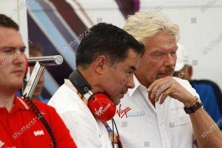 Miami e-Prix 2015. First Practice Session Alex Tai and Sir Richard Branson. FIA Formula E World Championship. Miami, Florida, USA. Saturday 14 March 2015. Copyright: Adam Warner / LAT / FE
