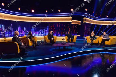 Matt Lucas, Lady Leshurr, Jonathan Ross, Liam Gallagher, Lucy Beaumont and Jon Richardson