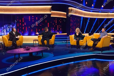 Stock Photo of Jonathan Ross, Liam Gallagher, Lucy Beaumont and Jon Richardson