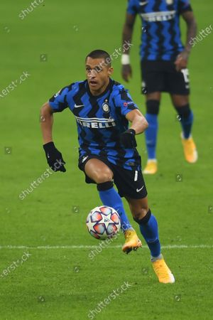 Alexis Sanchez (Inter) during the Uefa Champions League match between Inter 0-2 Real Madrid at Giuseppe Meazza Stadium in Milano, Italy.