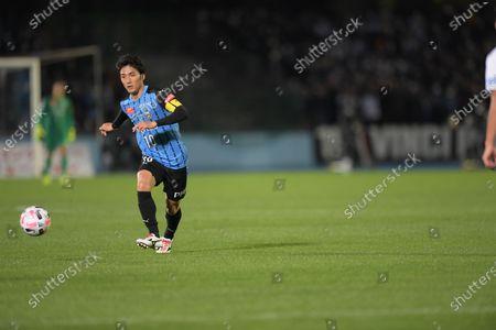Kawasaki Frontale's Ryota Oshima during the 2020 J1 League match between Kawasaki Frontale 5-0 Gamba Osaka at Kawasaki Todoroki Stadium in Kanagawa, Japan.