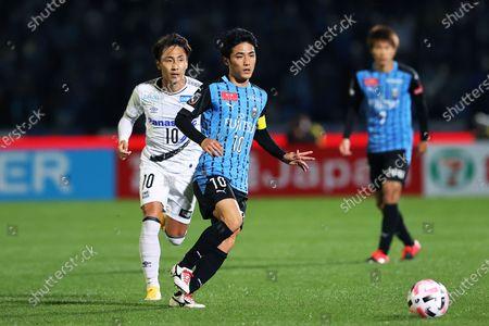 Stock Photo of Ryota Oshima (Frontale) - Football / Soccer : 2020 J1 League match between Kawasaki Frontale 5-0 Gamba Osaka at Kawasaki Todoroki Stadium, Kanagawa, Japan.