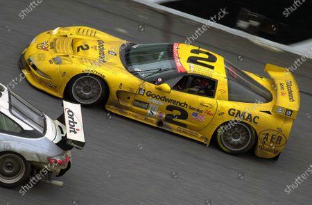 2001 Rolex Daytona 24 Hours Grand Am Series. Daytona International Speedway, Daytona Beach, Florida, USA. 3rd - 4th February 2001. Rd 1.  Johnny O'Connell/Ron Fellows/Chris Kneifel/Franck Freon (Chevrolet Corvette C5-R), 1st position, action. World Copyright: ?F.Peirce Williams / LAT USA. Ref:  FPW01DIS6955.jpg