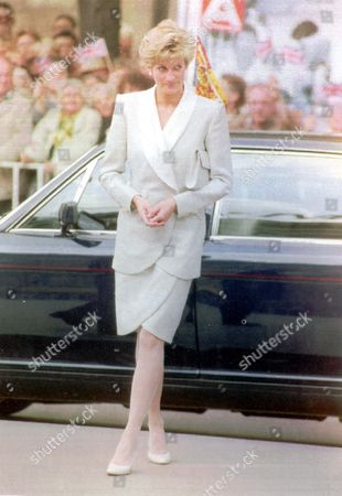 Princess Diana 1991 Princess Diana Stands Beside The Royal Bentley On The Royal Visit To Czechoslovakia.