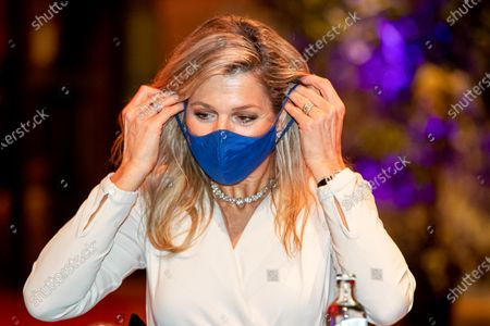 Stock Photo of Queen Maxima at the presentation of the King Willem I prize at the Beurs van Berlage