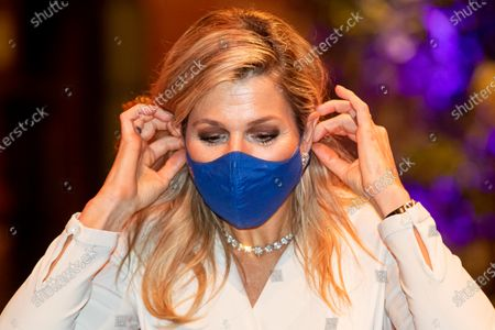 Queen Maxima at the presentation of the King Willem I prize at the Beurs van Berlage