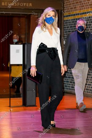 Stock Picture of Queen Maxima at the presentation of the King Willem I prize at the Beurs van Berlage