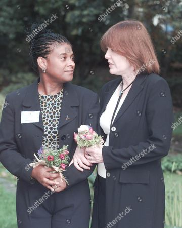 Women Of The Year Lunch 1998. Linda Mccartney Was Named 'women Of The Year'. Picture Shows : Doreen Lawrence Mother Of Murder Victim Stephen & Frances Lawrence Widow Of The Late Murdered Headmaster Philip Lawrence Were Guests At The 'empty Chair' Lunch At The Savoy .