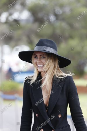 Albert Park, Melbourne, Australia. Sunday 15 March 2015. Elyse Knowles arrives at the circuit. World Copyright: Alastair Staley/LAT Photographic.