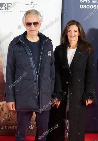 Stock Picture of Andrea Bocelli and Veronica Berti