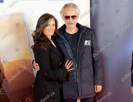 Stock Image of Andrea Bocelli and Veronica Berti