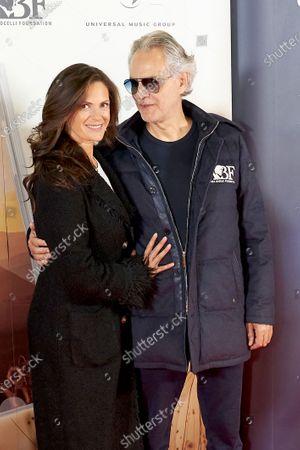 Stock Photo of Andrea Bocelli and Veronica Berti