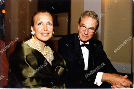 American Novelist/writer Danielle Steel Pictured With Fellow Writer Thomas Perkins.