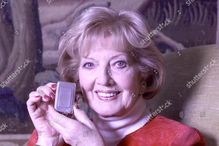 Stock Photo of Janet Brown Widow Of Peter Butterworth Also Pictured With A Silver Snuff Box The First Gift Her Husband Gave Her