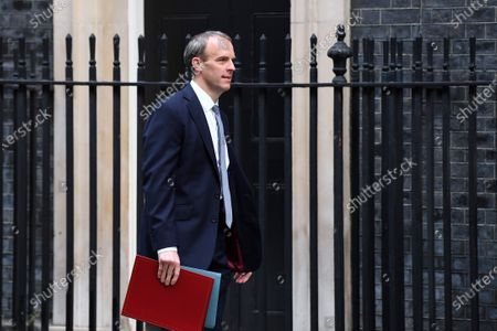 Dominic Raab, Foreign Secretary, arrives at No.10 Downing Street.