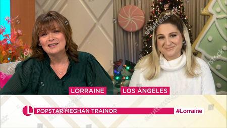 Stock Picture of Meghan Trainor, Lorraine Kelly