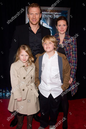 Kevin McKidd with wife Jane and children