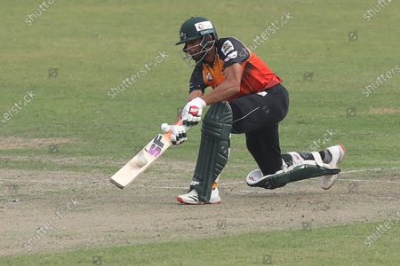 Gemcon Khulna cricket player, Mahmudullah in action during the Bangabandhu T20 Cup 2020 between Minister Group Rajshahi and Gemcon Khulna at Sher e Bangla National Cricket Stadium. Minister Group Rajshahi beat Gemcon Khulna by 6 wickets.