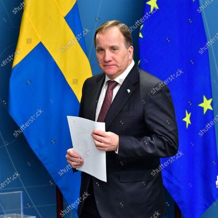 Editorial photo of Stefan Lofven coronavirus press conference, Stockholm, Sweden - 26 Nov 2020