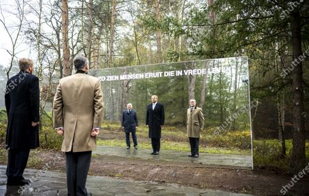Dutch King Willem-Alexander (L) attends a ceremony to open the National Veterans Cemetery in Loenen, The Netherlands, 26 November 2020. The king opened the cemetery along with a memorial and an education center at the cemetery where. veterans can be buried or their ashesb scattered.