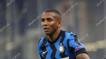 Inter Milan's Ashley Young controls the ball during the Champions League, Group B soccer match between Inter Milan and Real Madrid at the San Siro stadium in Milan, Italy, Thursday, Nov. 2020