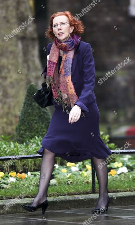 Baroness Janet Royall arriving at Cabinet