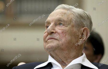 Editorial photo of No Fue Real Roundup - George Soros, Vienna, Austria - 21 Jun 2019