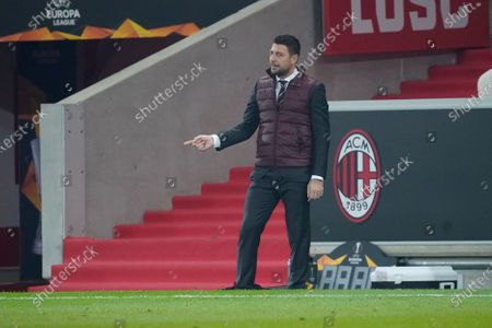 Milan coach Daniele Bonera