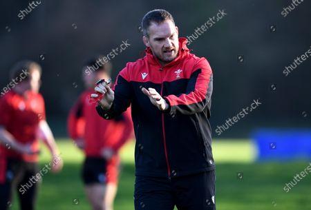 Gethin Jenkins during training.
