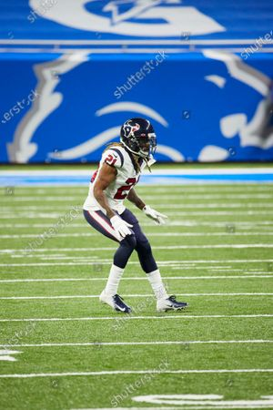 Stock Picture of Houston Texans cornerback Bradley Roby (21) in action against the Detroit Lions during an NFL football game, in Detroit