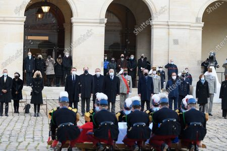 Editorial image of Funeral of Daniel Cordier, Hotel des Invalides, Paris, France - 26 Nov 2020