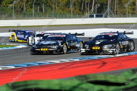 2014 DTM Championship Round 10 - Hockenheim, Germany 17th - 19th October 2014 Christian Vietoris (GER) Original-Teile Mercedes AMG, DTM Mercedes AMG C-Coup?, Adrien Tambay (FRA) Audi Sport Team Abt, Audi RS 5 DTM,  World Copyright: XPB Images / LAT Photographic