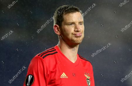 Jan Vertonghen of Benfica reacts during the UEFA Europa League goup D soccer match between Glasgow Rangers and Benfica Lisbon in Glasgow, Britain, 26 November 2020.