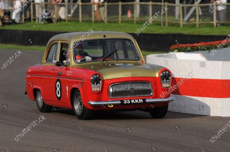 Stock Image of 2014 Goodwood Revival Meeting Goodwood Estate, West Sussex, England 12th - 14th September 2014 St Mary's  Trophy James Martin Ford Prefect World Copyright: Jeff Bloxham/LAT Photographic