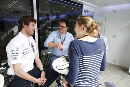 Autodromo Nazionale di Monza, Monza, Italy. Thursday 4 September 2014. Rob Smedley, Head of Vehicle Performance, Williams F1, talks to James Allen, BBC, and Jennie Gow, BBC. World Copyright: Glenn Dunbar/LAT Photographic.