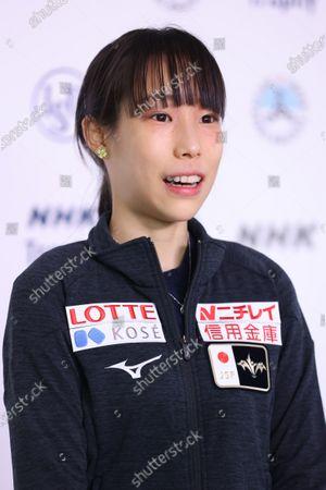 Mai Mihara (JPN) - Figure Skating:  ISU Grand Prix of Figure Skating 2020/21  NHK Trophy  Women's Practice  at Towayakuhin RACTAB Dome, Osaka, Japan.