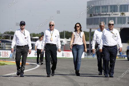 Hockenheimring, Hockenheim, Germany. Thursday 17 July 2014. Martin Whitmarsh, Team Principal, McLaren and Herbie Blash, Deputy Race Director, FIA, walk the track World Copyright: Charles Coates/LAT Photographic.