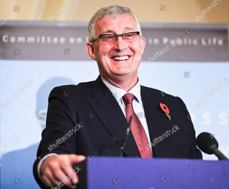 Sir Christopher Kelly Chair of the Committee on Standards in Public Life at a press conference following the publication of the report of MPs Expenses and Allowances