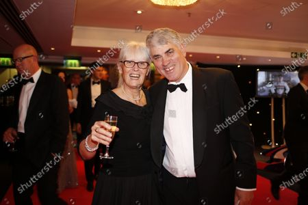 2013 Autosport Awards. Grosvenor House Hotel, Park Lane, London. Sunday 1st December 2013. Annie Bradshaw and BMW Head of Sponsorship Peter Walker. World Copyright: Glenn Dunbar/LAT Photographic.