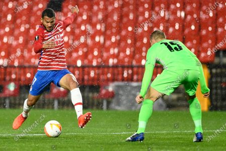 Granada CF player Luis Suarez is seen in action during the UEFA Europa League Group E match between Granada CF and AC Omonoia Nicosia at Estadio Nuevo Los Carmenes in Granada. (Final score; Granada CF 2:1 AC Omonoia Nicosia)