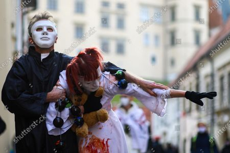 Editorial photo of Protest in support of the victims of pedophilia in Cracow, Poland - 22 Nov 2020