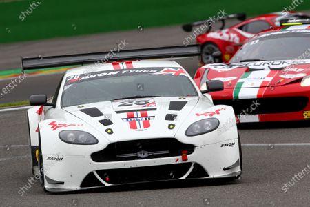 2014 Avon Tyres British GT Championship, Spa Francorchamps, Belgium. 11th - 12th July 2014. Paul Bailey / Andy Schulz HorsePower Racing Aston Martin Vantage GT3. World Copyright: Ebrey / LAT Photographic.