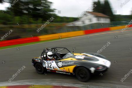 2014 Ginetta GT5 Challenge, Spa Francorchamps, Belgium. 11th - 12th July 2014. Alex Preston (GBR) Tolman Motorsport Ginetta G20. World Copyright: Ebrey / LAT Photographic.